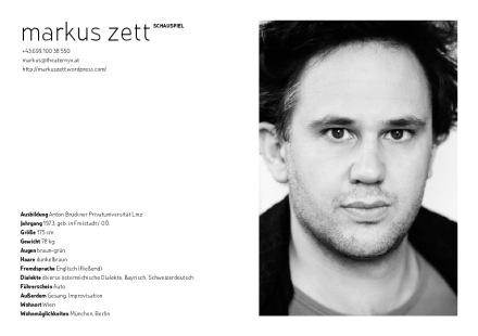 markus zett | setcard 2011