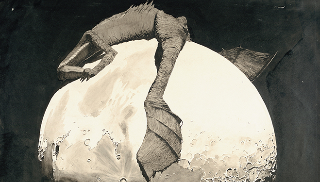 klemens_brosch_das_krokodil_auf_der_mondscheibe_um_1912